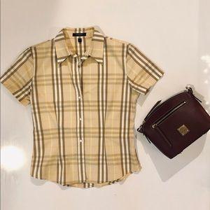 Burberry short sleeve collared shirt